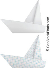 Origami ships - The collection of two paper origami ships