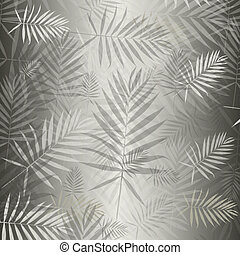 Silvery background with carved leaves