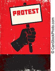 抗議, 插圖