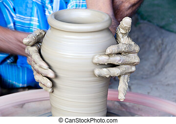 Pottery making - Pottery is made by forming a clay body into...