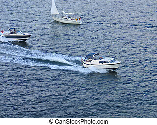 Speedboats at sea - need for speed