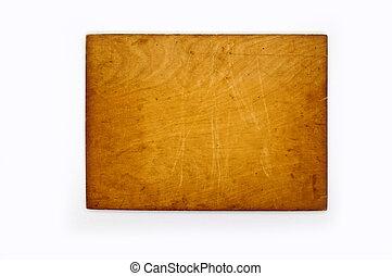 Wood nameplate