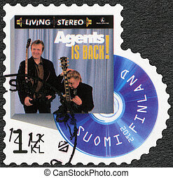 FINLAND - CIRCA 2012: A stamp printed in Finland shows band...