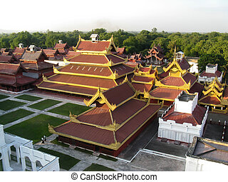 The royal palace in Mandalay - Myanmar