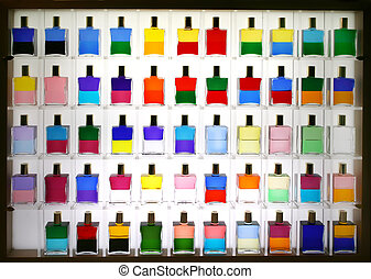 bottles for colors therapy