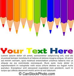 colorful pencil set