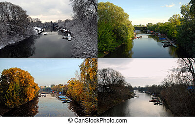 Four seasons - Photo of the same place in different seasons.