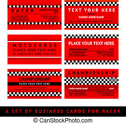 Business card driver race - fourth set