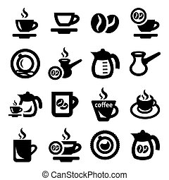 Coffee Icons - Elegant Coffee Icons Set Created For Mobile,...