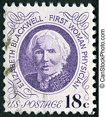 USA - CIRCA 1974: A stamp printed in USA shows portrait of...