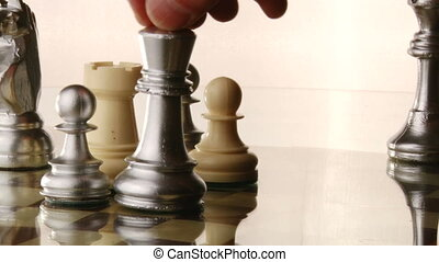 Chess, Chessboard - Fall of the chess king, white background