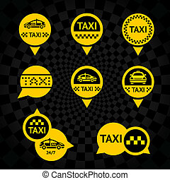Taxi - Emblems yellow