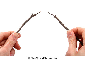 two bare electric wires in the hands