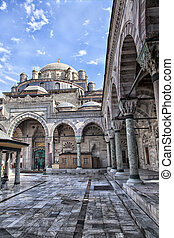 Beyazit Camii mosque - Image of the courtyard of Beyazit...