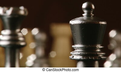 Chess, chessboard - Chess, king queen rook, shallow depth of...
