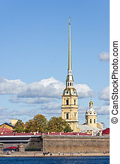 St Petersburg, Russia - Peter and Paul fortress and...