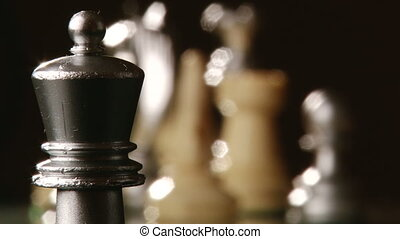 Chess, chessboard - Chess, rook capture pawn, shallow depth...
