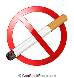 No smoking sign - isolated on white background