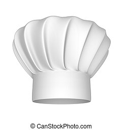 Chef white hat - Chef hat - isolated on a white background