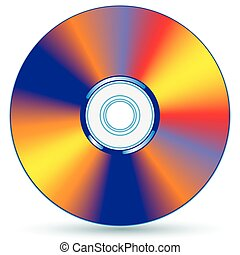 CD - Vector compact disc - blend and gradient only