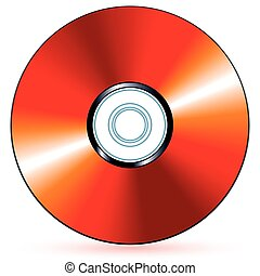 CD - Red compact disc - blend and gradient only
