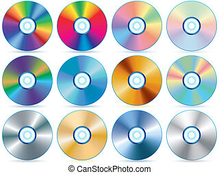 CD collection - Compact disc collection - blend and gradient...