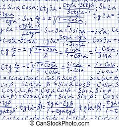 Math background - Seamless pattern of trigonometrical...