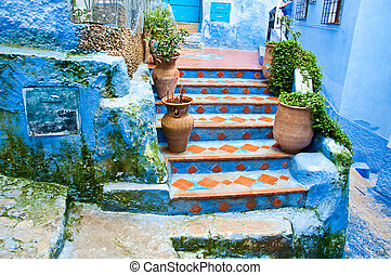 Architectural details and doorways of Morocco, Chefchaouen