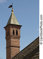 Turret on a roof of an ancient monastery