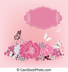 background for the design of flowers. Vector illustration....