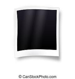 Empty photo frame - isolated on white background