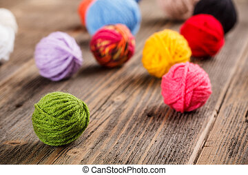 Color woolen clews for knitting