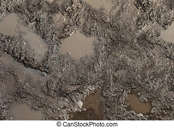 Mud Texture - Mud texture or wet brown soil with natural...