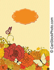 background for the design of flowers Vector illustration...
