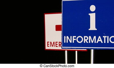 Emergency, Hospital, Happy End - Traffic Signs Concept