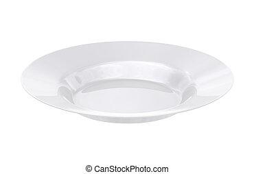 White dish - isolated on white