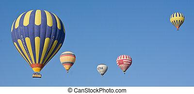 hot air balloons at Cappadocia - Turkey