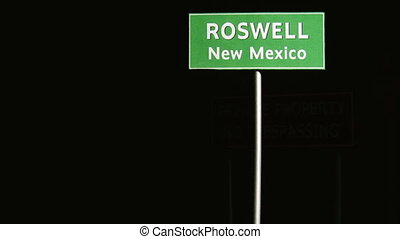 Roswell, Area 51, Military  - Traffic Signs Concept