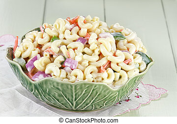 Macaroni Salad 2 - Macaroni salad with mayonaise and...