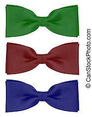 bow-tie - Festive bow-tie in front of a white background.
