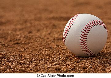 beisball, terreno central, Suciedad