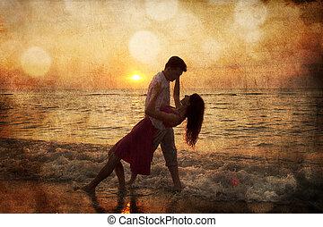 Couple at sunrise