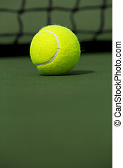 Tennis Ball Isolated on the Court - Tennis Ball isolated on...