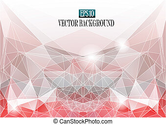 abstract color faceted background