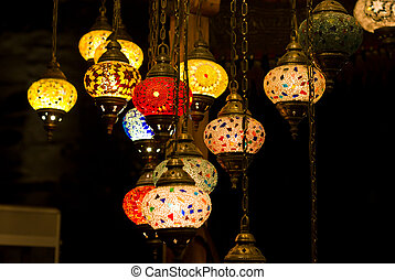 Turkish lanterns - Decorative turkish lanterns in an eastern...