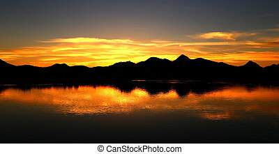 An Arizona Sunset over water