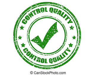 Control quality-stamp - Grunge rubber stamp with text...