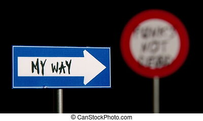 My Way, Punks not dead - Signs - Traffic Signs Concept