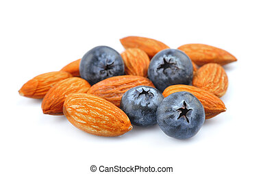 Blueberry with almonds
