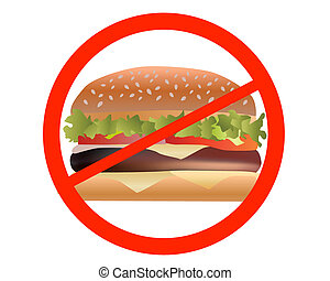 ban sandwiches on white background